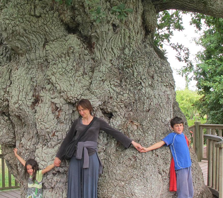 arbre remarquable en famille